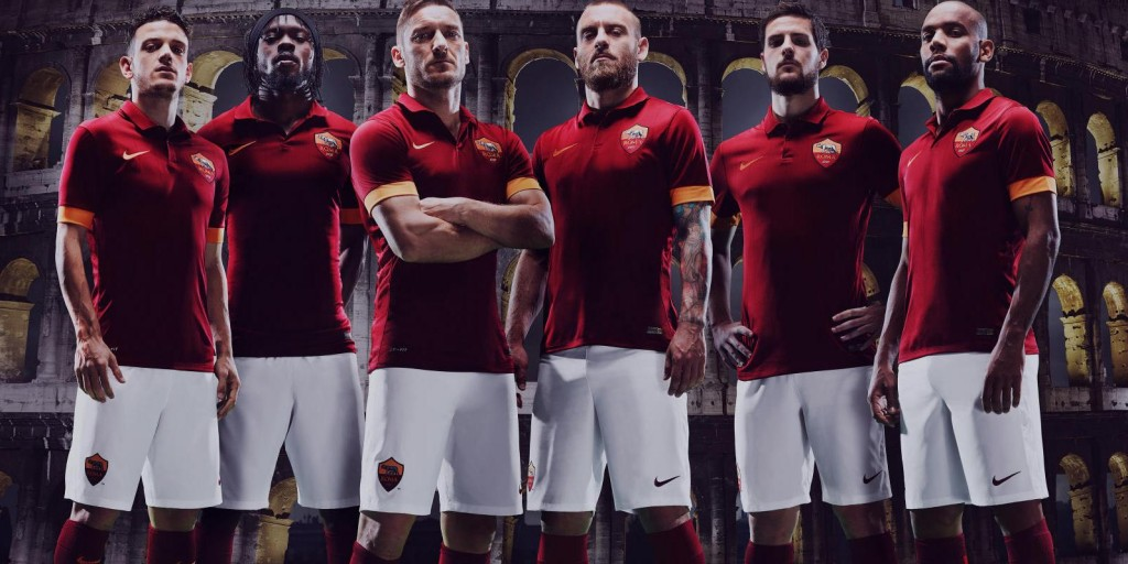 AS Roma 14-15 Home Kit (1)