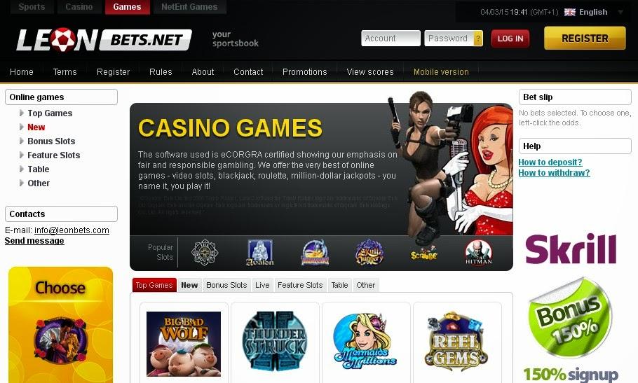казино леон официальный сайт