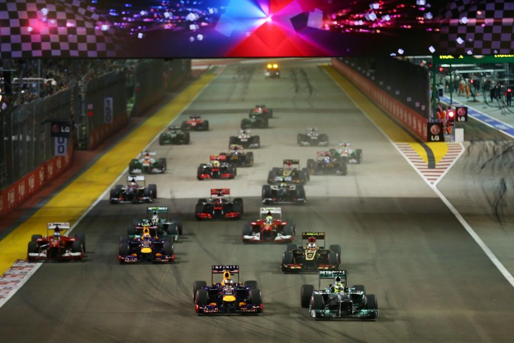 Formel 1 in Singapore - das Rennen
