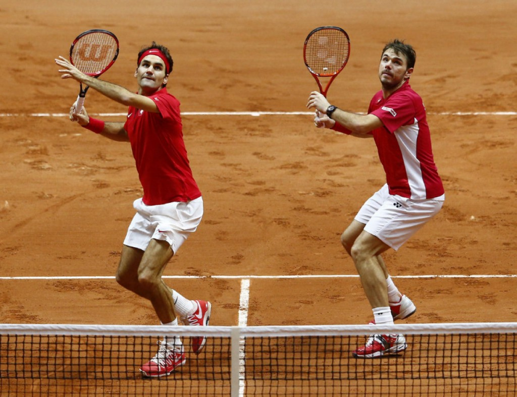 France v Switzerland - Davis Cup World Group Final: Day Two